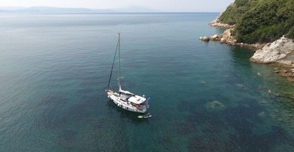 Sailing from Skiathos !